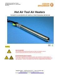 Hot Air Tool Air Heaters - Osram Sylvania