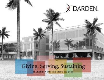 Giving, Serving, Sustaining - Darden Restaurants