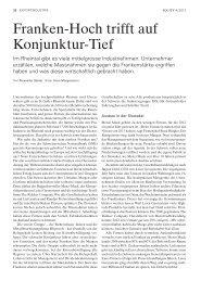 Franken-Hoch trifft auf Konjunktur-Tief - GK Grünenfelder AG