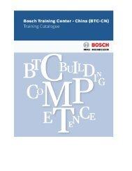 Training Catalogue - Bosch-Career