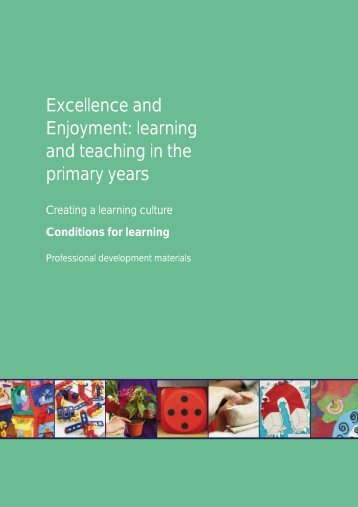 Creating a learning culture: Conditions for learning - PGCE