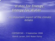 Water for Energy, Energy for Water - Danish Water Forum