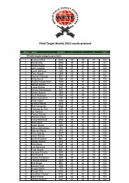 Field-Target Worlds 2012 results protocol