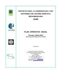 Plan Operativo Anual, Julio 2004 - Junio 2005 - Mesoamerican ...
