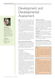 Development and Developmental Assessment - ACNR