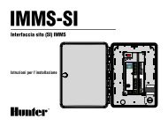 Interfaccia sito (SI) IMMS - Hunter Industries