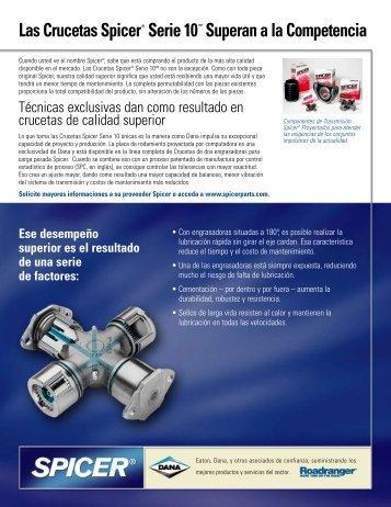 Las Crucetas Spicer® Serie 10™ Superan a la ... - Dana Corporation