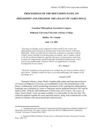 proceedings of the discussion panel on philosophy and freedom