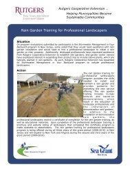 Rain Garden Training for Professional Landscapers - Rutgers ...