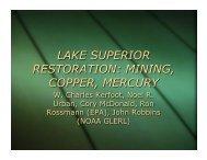 LAKE SUPERIOR RESTORATION: MINING, COPPER, MERCURY