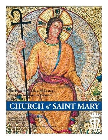 Sunday, April 21, 2013 - St. Mary's Roman Catholic Church