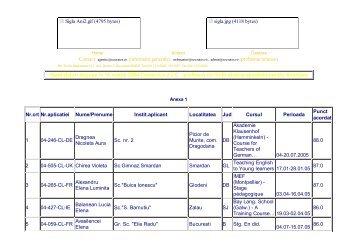 Candidaturi aprobate pentru finantare - LLP