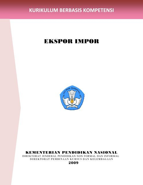 Kurikulum Berbasis Kompetensi Ekspor Impor