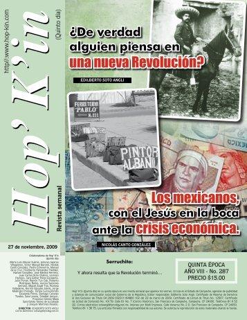 Los mexicanos, ante la crisis económica. una nueva Revolución?