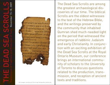 DSS Brochure - Orion Center for the Study of the Dead Sea Scrolls