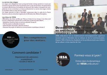 Téléchargez le programme des formations d'IESA Lyon