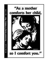 """""""As a mother comforts her child, so I comfort you."""" - The Parish ..."""
