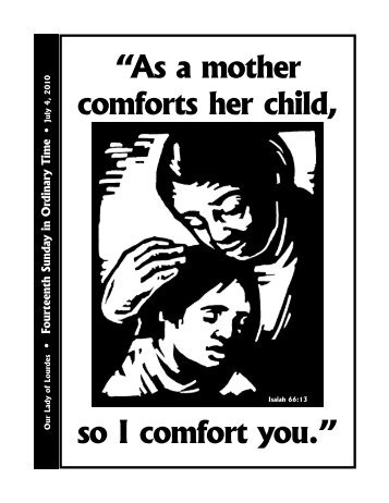 """As a mother comforts her child, so I comfort you."" - The Parish ..."