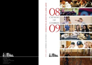 2008-09 Catalog - Saint Mary's College of California