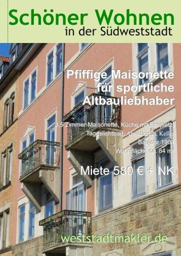 Pfiffige Maisonette für sportliche Altbauliebhaber Pfiffige Maisonette ...