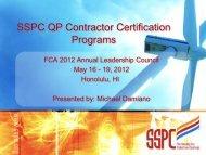 SSPC QP Contractor Certification Programs - Finishing Contractors ...
