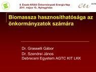 Grasselli Gábor - Biomassza hasznosíthatósága az ... - enerea