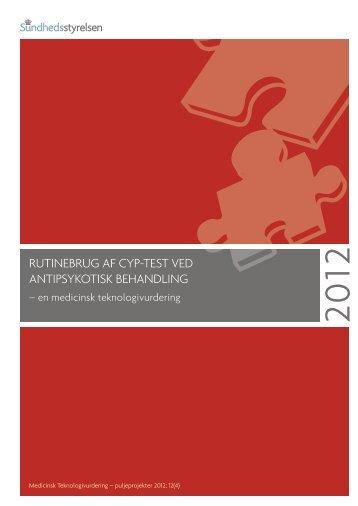 Rapport: Rutinebrug af CYP-test ved antipsykotisk behandling