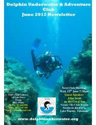 Dolphin Underwater & Adventure Club June 2012 Newsletter