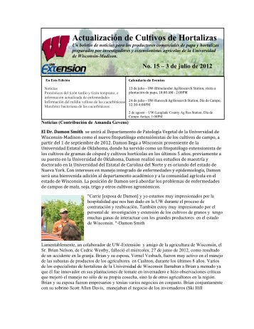 Actualización de Cultivos de Hortalizas