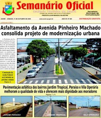 Asfaltamento da Avenida Pinheiro Machado consolida projeto de ...