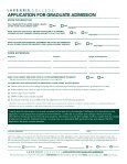 APPLICATION FOR GRADUATE ADMISSION - Lake Erie College - Page 2
