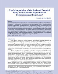 Can Manipulation of the Ratios of Essential Fatty Acids Slow the ...