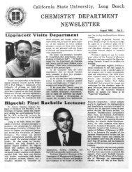 1980 - California State University, Long Beach Department of ...