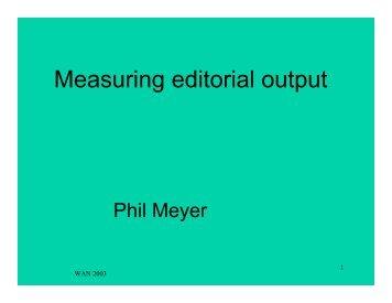 Measuring editorial output
