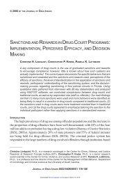 sanctions and rewards in drug court programs: implementation ...