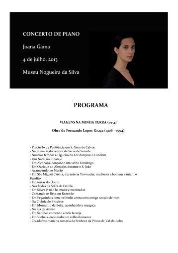 Concerto da pianista Joana Gama (.pdf) (2383799 bytes) - ICS