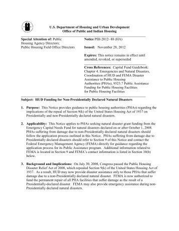 PIH 2012-48 - HUD