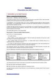 Chapitre 5 Présentation des états financiers - Procomptable.com