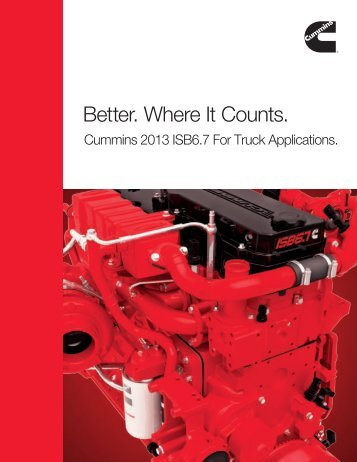 Better. Where It Counts. - Cummins Engines