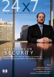 Spring 2003 - HP NonStop technology enhances security - PDF