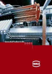 Geschäftsbericht 2001 (PDF) - KUKA Aktiengesellschaft