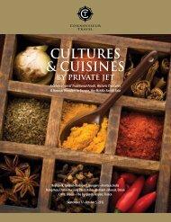 CUltURES & CUiSiNES by PRivAtE JEt - Connoisseur Travel