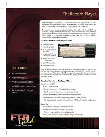 Data Sheet - Player - front - AVC