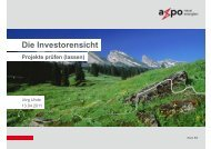 Herr Uhde - Die Investorensicht - GGSC Seminare