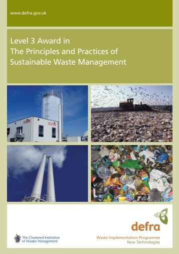 Level 3 Award in The Principles and Practices of Sustainable Waste ...