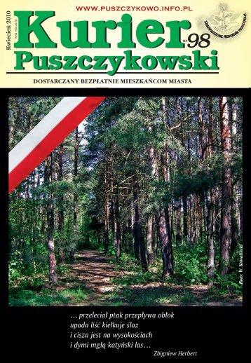 Kurier 98-fonty.indd - Stowarzyszenie Przyjaciół Puszczykowa