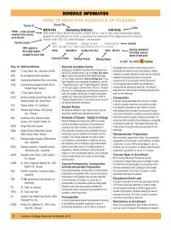 How To READ THE SCHEDULE oF CLASSES - Ventura College