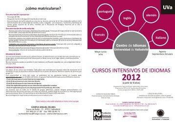 folleto intensivos primavera-verano 2012 - Delegación del Colegio ...
