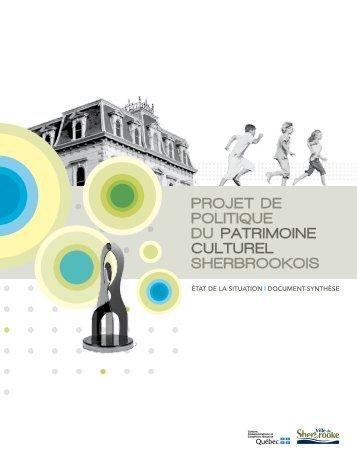 Projet de politique du patrimoine culturel sherbrookois (PDF - 4,6 Mo)