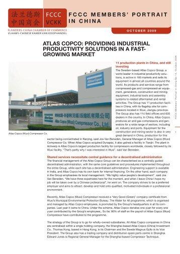 fccc members' portrait in china atlas copco: providing industrial